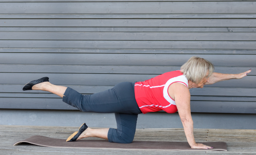 core exercises for a 50 years old woman