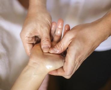 Massaging a scar